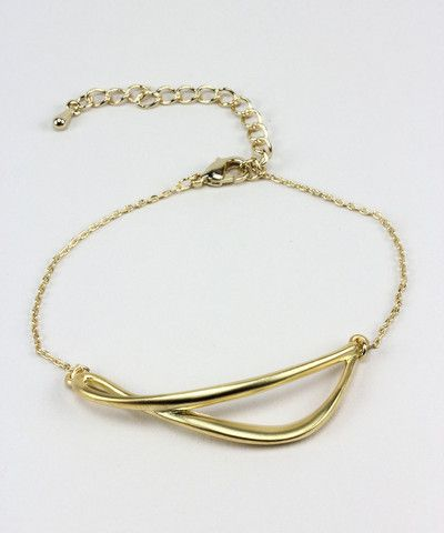 Gold Horizontal Twist Bracelet. $ 17.00