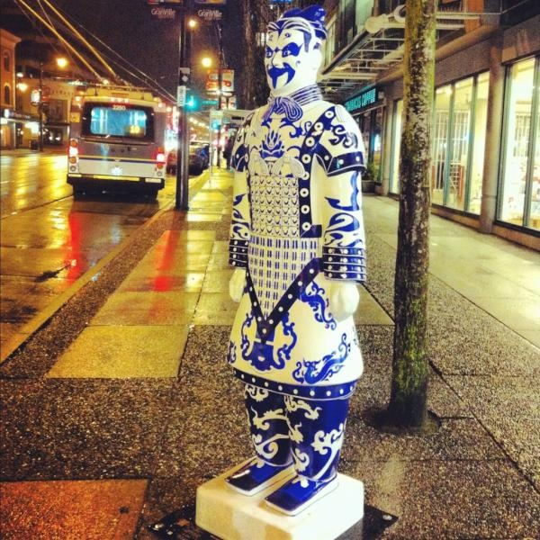 Terracotta army to hit Vancouver's streets. Sculptures will find homes on street corners and other locations before being auctioned off for charity. Photo by Marat Ahmad @MaRatatat