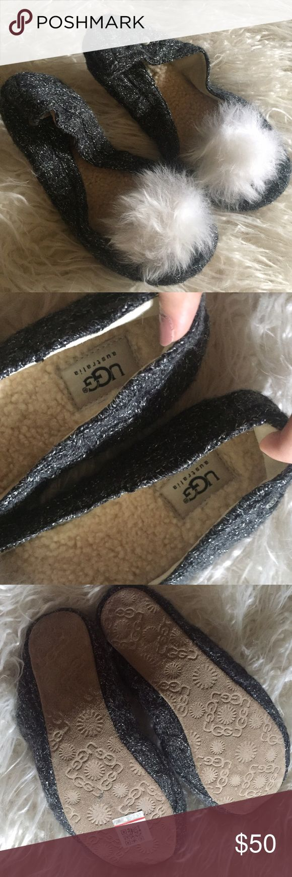UGG Australia Andi Ballet Slippers UGG Andi Slippers brand new never worn! Can be worn inside as house slippers or even outside as ballet flats • made with genuine sheepskin & leather material • comes with original drawstring bag UGG Shoes