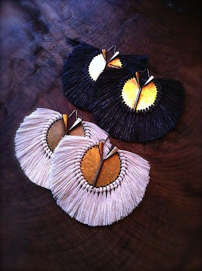 Hazel Cox: I own the black pair with matching necklace! Love, love, love her work!