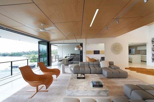 Penthouse-Wohnung mit einem geräumigen Wohnzimmer-verglast-Sitzlandschaft