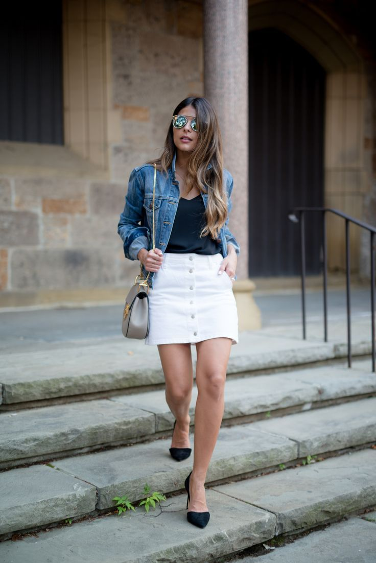 The Girl From Panama A Personal Style And Beauty Blog By Pam Arias Button Front Denim Skirt Fashion Stylish Denim Skirt [ 1102 x 736 Pixel ]
