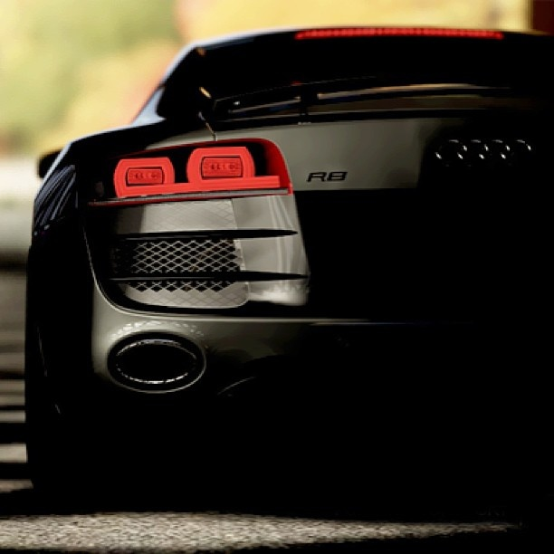 Stunning shot of an Audi R8