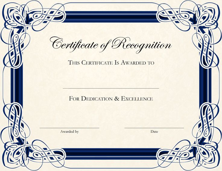 Free Printable Certificate Templates For Teachers ...