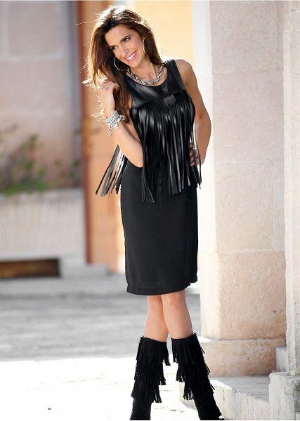 Sukienka ołówkowa Premium z frędzlami • 129.99 zł • Bon prix