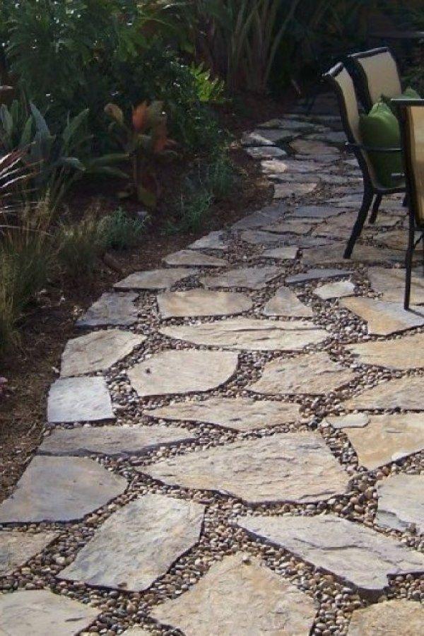 Stone Garden Walkway Ideas Stone Patio Designs Patio Stones
