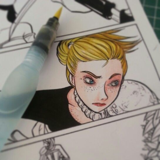 Coloring old pages.