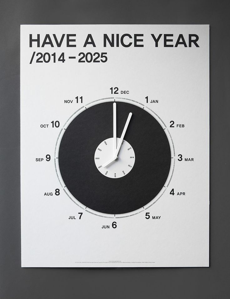 HAVE A NICE YEAR/2014-2025 by cool enough studio.  www.coolenoughstudio.com