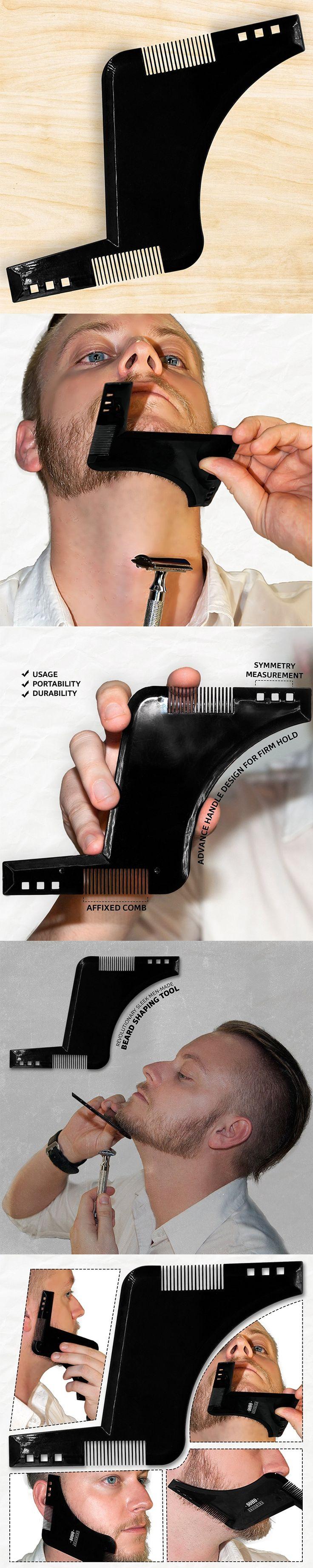 Beard Shaping Template High Quality Beard Comb Plastic Hair Brush Cut Beard Shaver Template Comb Cheap B111