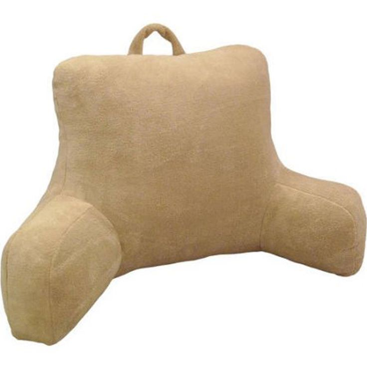 Bed Rest Pillow Back Arm Support Bedroom Plush Soft Cushion Chair TV Reading #Mainstays