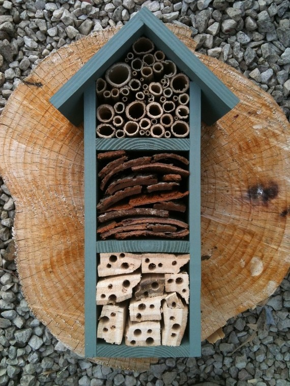 """bee and insect """"hotel"""". Great for the kids."""