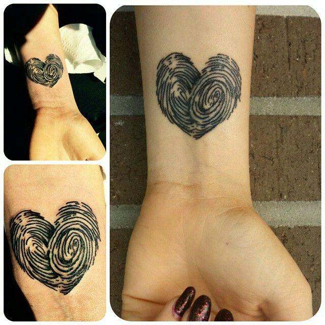 Tattoo Fingerprint wrist