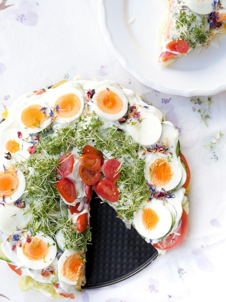 Gesunde Salattorte - Low Carb und Weight Watchers