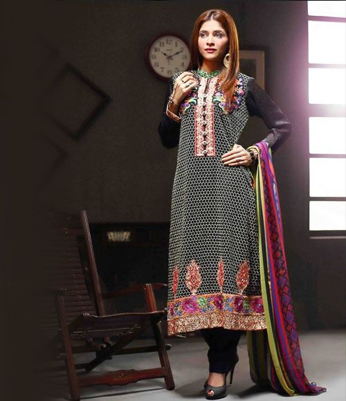 Tawakkal Artistry Chiffon Suit Collection 2015 3932