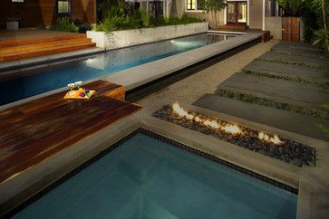 My idea of Heaven!!  A lap-pool, seating area, hot tub & fire pit ... all in the privacy of your own back yard!  Perfection!!!