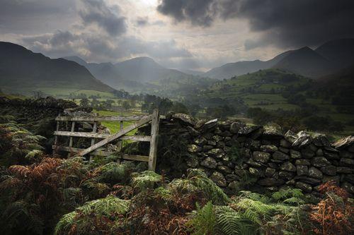Cumbria, England.: Wooden Gates, Stones Wall, Cloud, Cumbria England, Stones Fence, Newland View, Ian Snowdon, Photo, Beautiful England