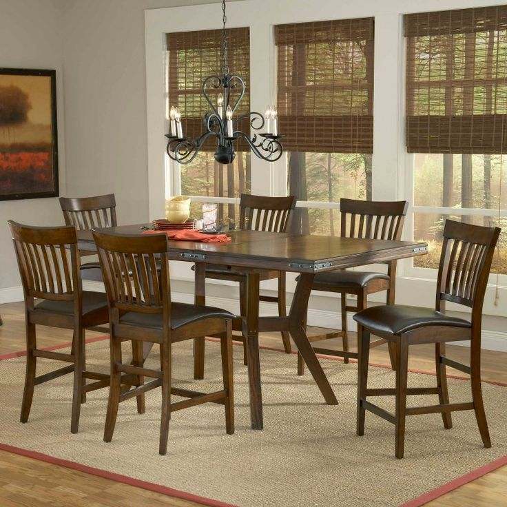 Hillsdale Arbor Hill 7 Piece Counter Height Dining Set   4232GTBS8