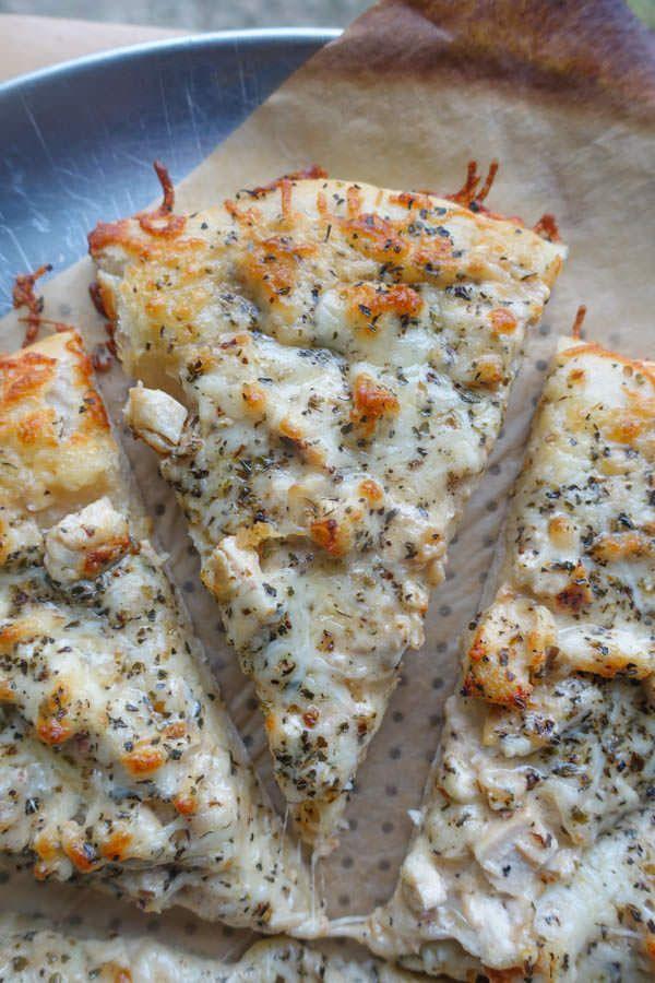 Brown Butter Alfredo Chicken Pizza | Lauren's Latest