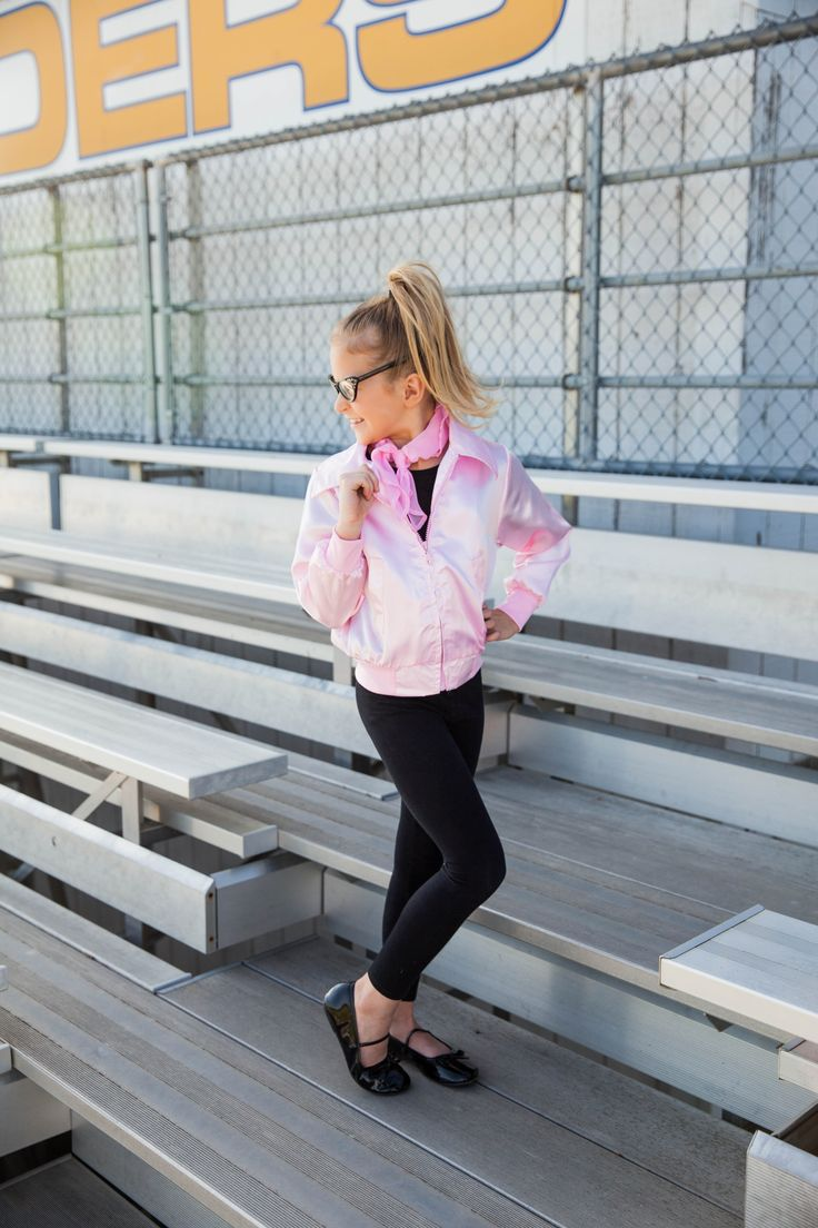 Grease Halloween costume ideas- be a sassy Pink Lady and show off your pride with this lovely pink satin jacket. Pink Lady jackets and more costumes available for both kids and adults!