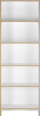 <p>Sie sind auf er Suche nach mehr Stauraum in Ihrem Wohnzimmer? Mit diesem ca. <b>60x175x24cm</b> (B/H/T) großen <b>Regal in Weiß aus Flachpressplatten </b>holen Sie sich ein kleines Stauraumwunder nach Hause! Auf <b>4 verstellbaren Einlegeböden</b> können Sie Bücher, Cd´s oder Accessoires gut geordnet und schick inszeniert aufbewahren. Egal ob im Wohnzimmer, Schlafzimmer oder im Essbereich dieses <b>Regal aus Flachpressplatten </b>trägt beinahe alles!</p>
