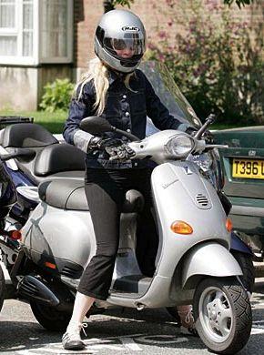 Gwyneth Paltrow on Vespa