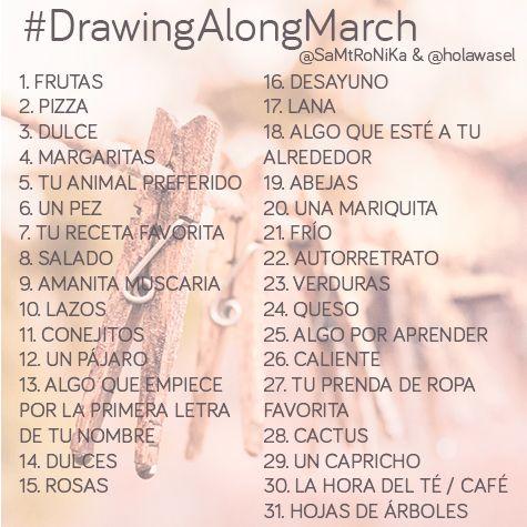 Dibujemos juntos en marzo #DrawingAlongMarch