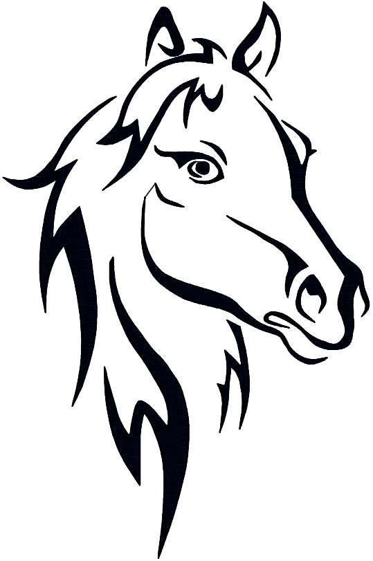 Instant Download Horse Farm Animal Abstract Horse Pet Horse Outline Embroidery Design Pattern: