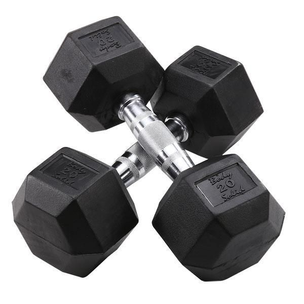 Rubber Coated Dumbbells 3-120lbs. - SDR
