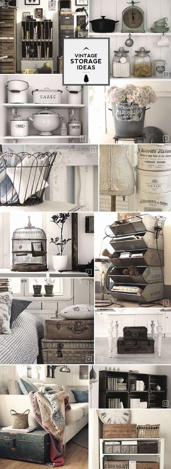 Ideas para almacenar y decorar a lo vintage.