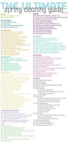 Artsy Fartsy Annie: Momma Monday: The Ultimate Spring Cleaning Guide & Daily Cleaning Schedule