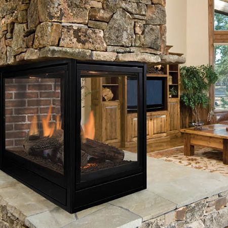 19 best see through fireplaces images on pinterest for 4 sided fireplace