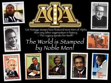 """Alpha Phi Alpha - The World is Stamped by Noble Men:  """"US postage stamps have featured more Men of Alpha than any other organization in history - the legacy speaks for itself""""  #APA1906"""