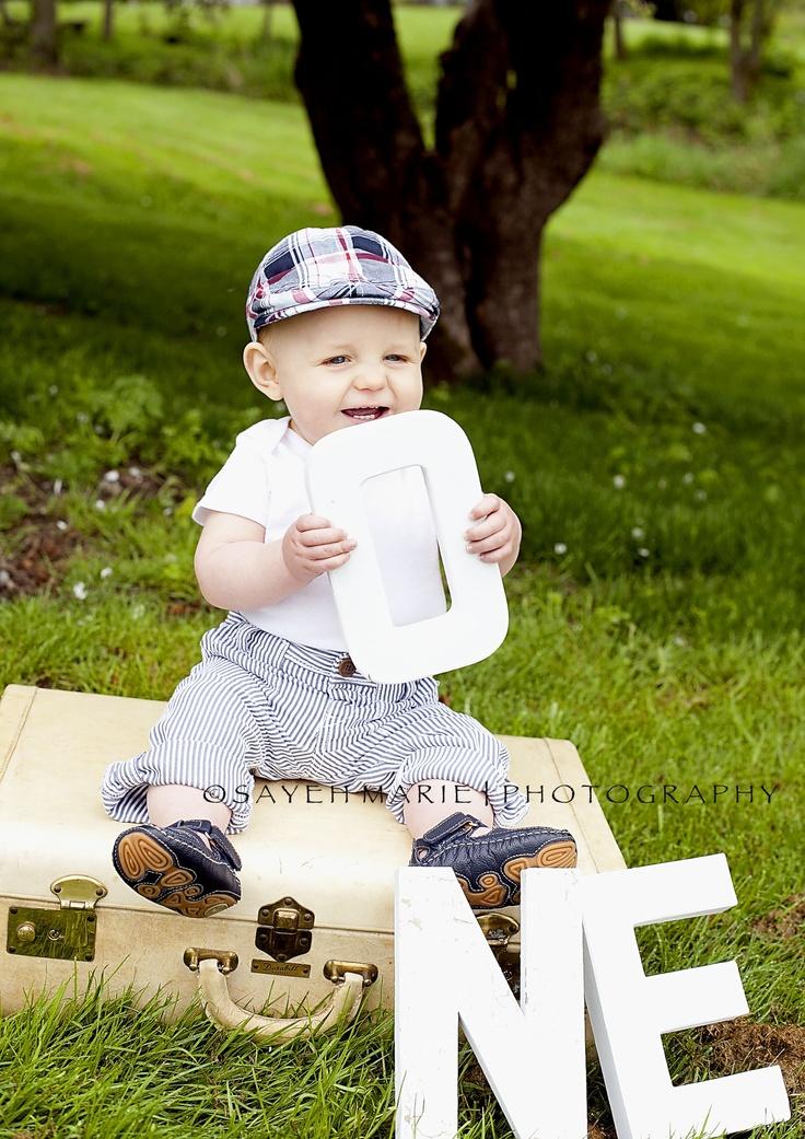 Baby Boy One Year Photo Ideas