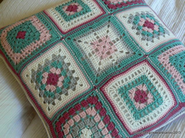 Girls Wear Blue Too: Crochet Cushions