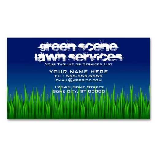 green scene lawn services business card lawn care