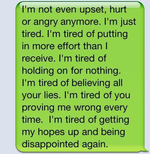 I'm tired.