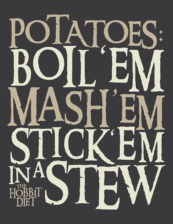 Amazing Lord Of The Rings Inspired Hobbit Diet Potatoes By