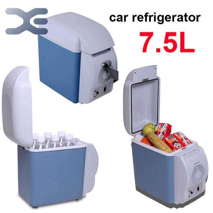 free shipping 2per lot car mini fridge cooler and heating portable car freezer