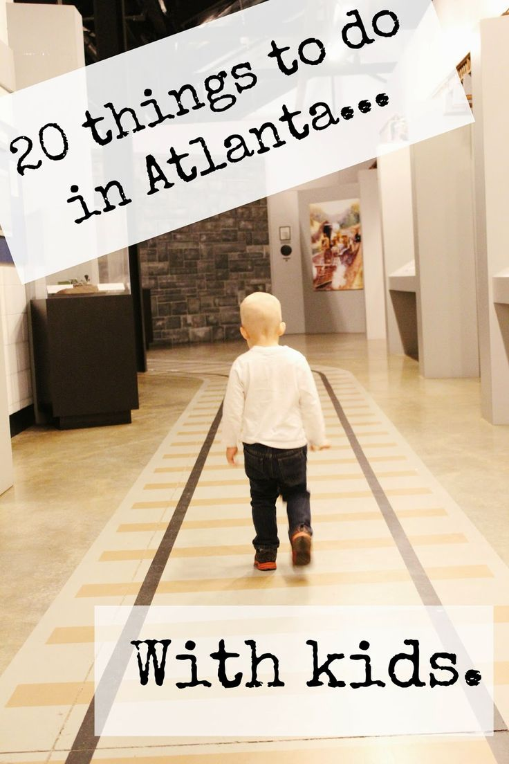 20 things to do in Atlanta area with kids, includes descriptions and prices, activities varying for all price levels.