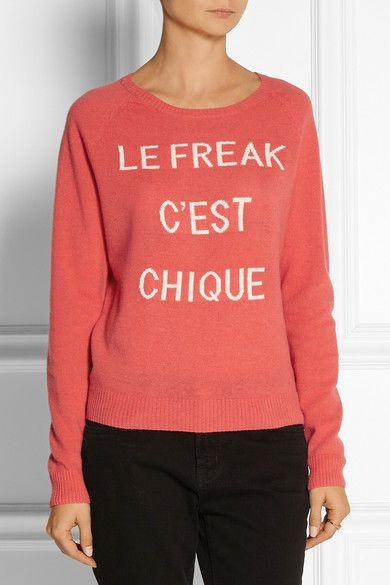 Zoe Karssen Le Freak C'est Chique wool and cashmere-blend sweater $153 Size XS