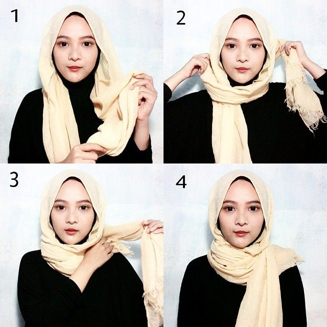 This is a less than one minute hijab wrap, it's practical when you spend hours picking your outfit, the hijab could then take only one minute lol, it's a summer style many bloggers are following, it only requires an underscarf.…