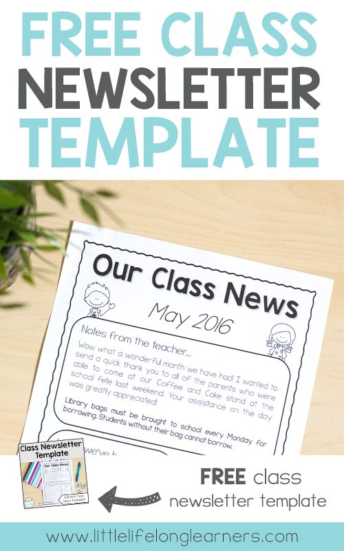 The  Best Classroom Newsletter Free Ideas On   Parent