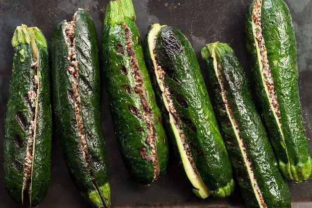 Vegan Quinoa-Stuffed Grilled Zucchini #MeatlessMonday