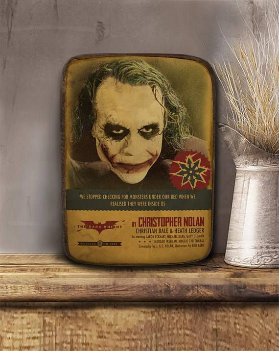 The dark knight Joker Wooden hanging frame