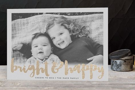Shiny Happy People Foil-Pressed Holiday Cards by pandercraft at minted.com