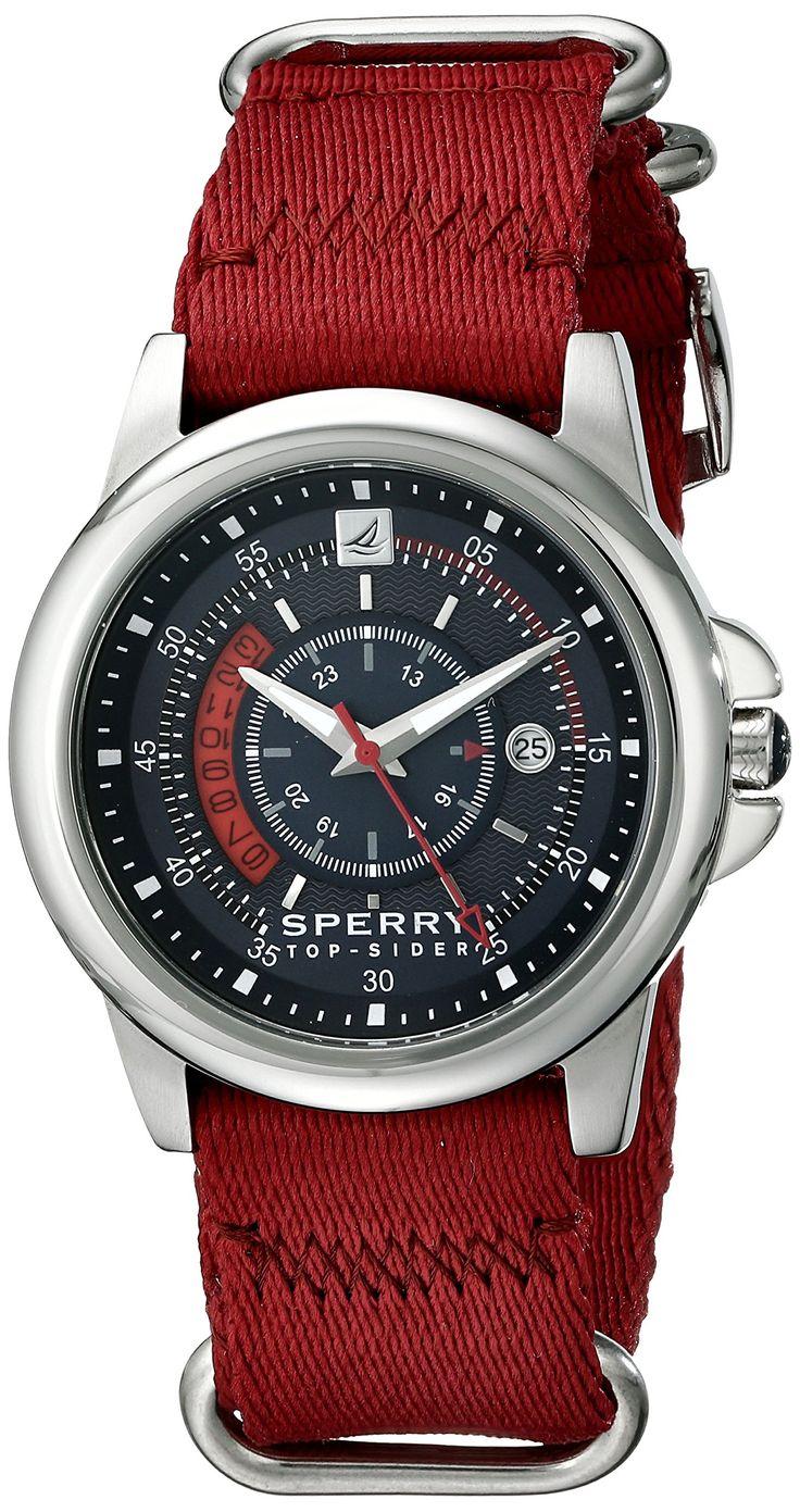 Sperry Top-Sider Men's 10018682 Skipper Analog Display Japanese Quartz Red Watch