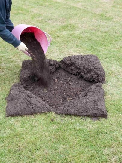 Quick Sod Repair. Levelling out a lawn.