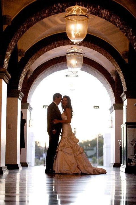 wedding photo in the Val de Vie foyer