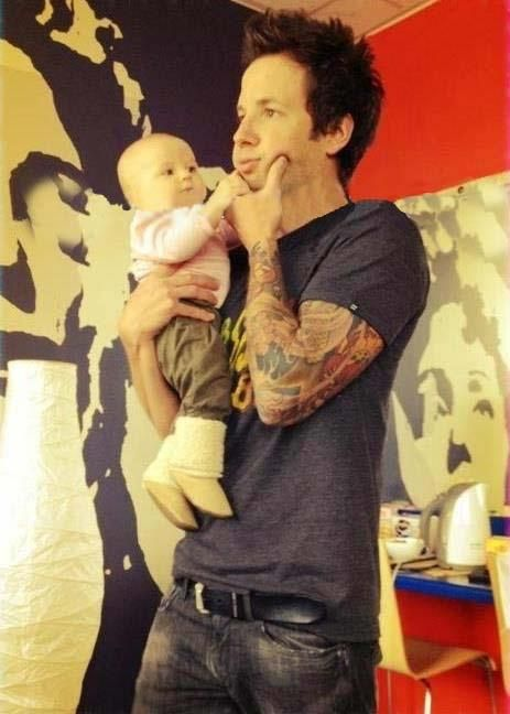 Pierre Bouvier + baby daughter = too cute for words.