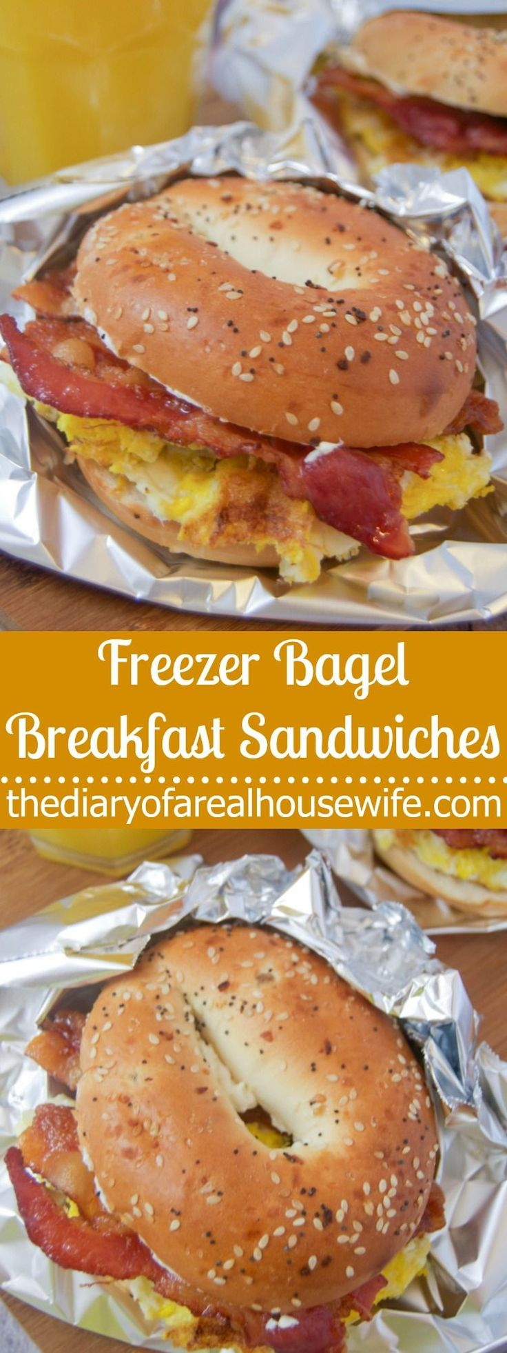 Freezer Bagel Breakfast Sandwiches